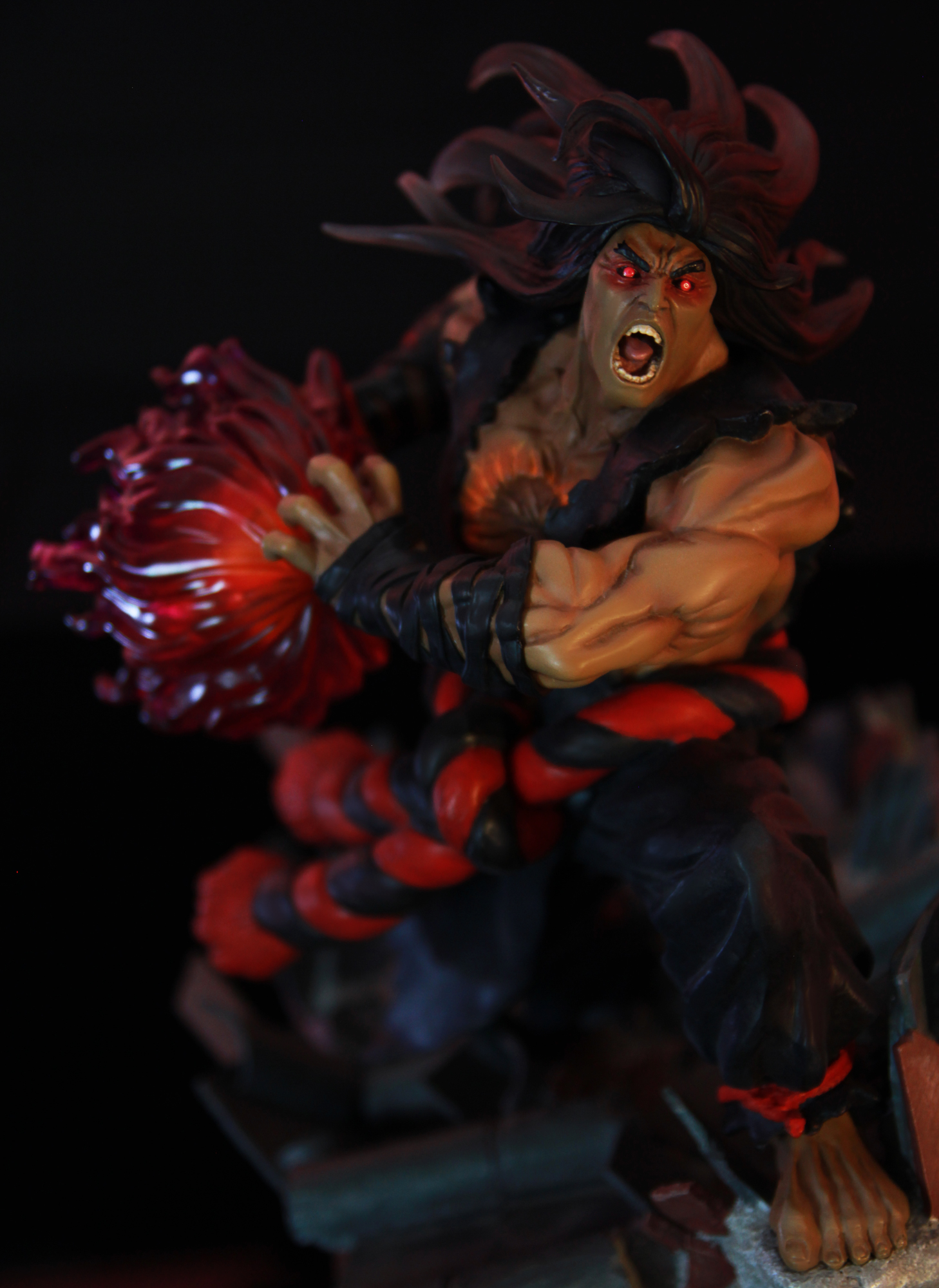 Evil Ryu / 殺意リュウ- 1/6 scale diorama | Kinetiquettes  Evil Ryu / 殺�...