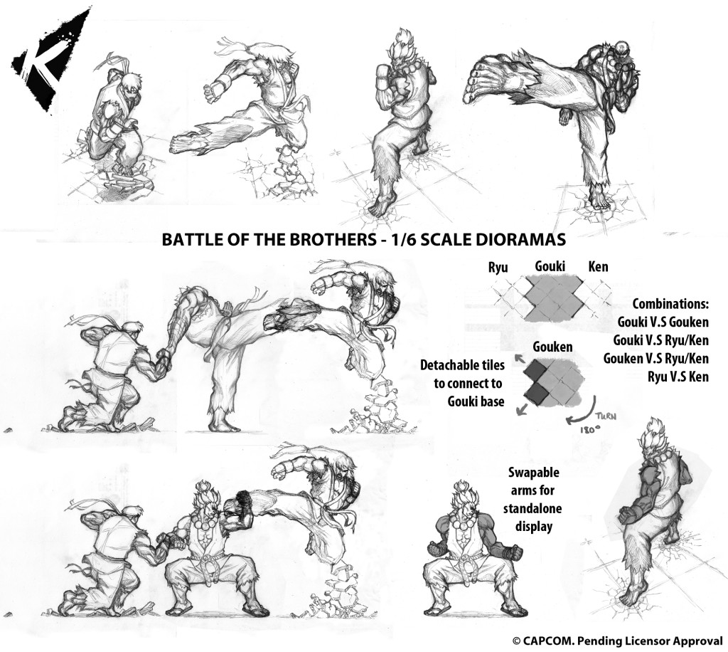 [Kinetiquettes] Street Fighter: Battle of Brothers Diorama! BattleOfTheBrothers-1024x916